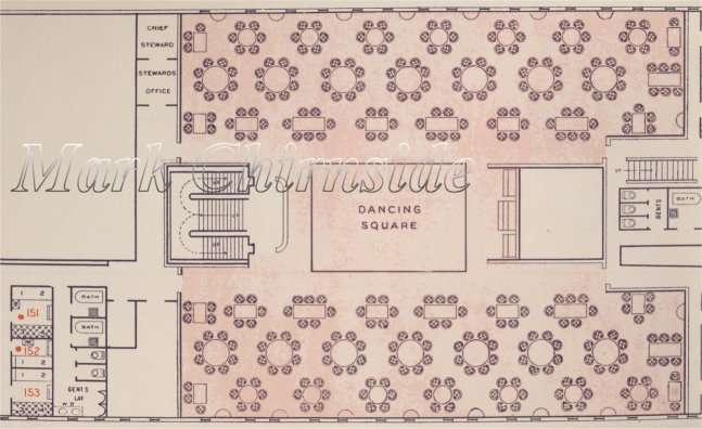Baltic Cabin Dining Saloon Plan