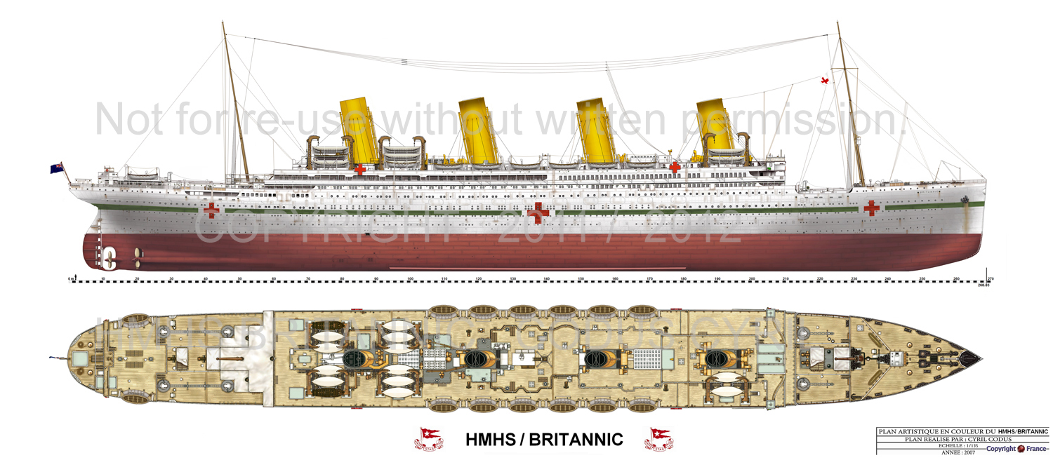 HMHS Britannic 1916 Plan by Cyril Codus