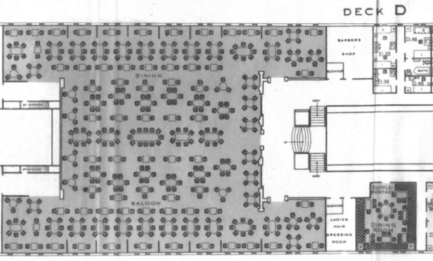 homeric first class dining saloon floor plan 1929