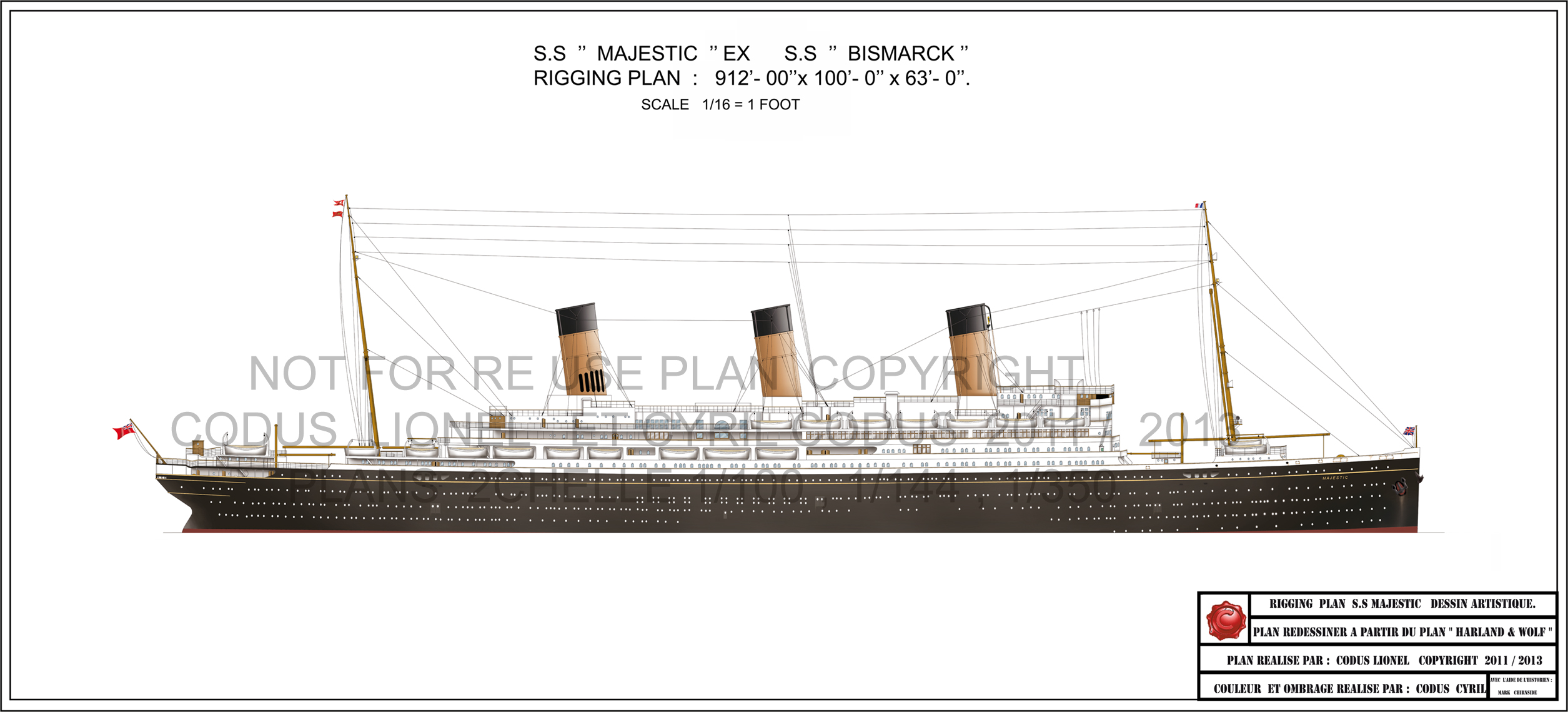 Majestic Rigging Plan by Lionel Codus