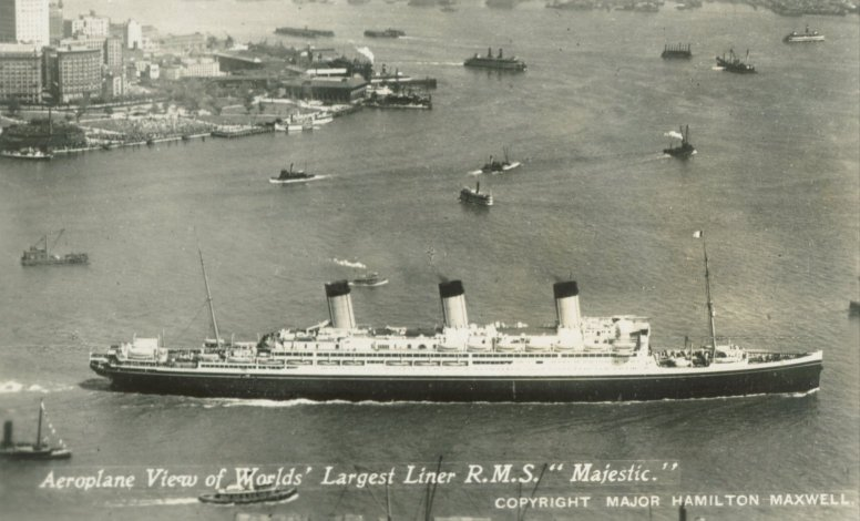 rms majestic worlds largest liner