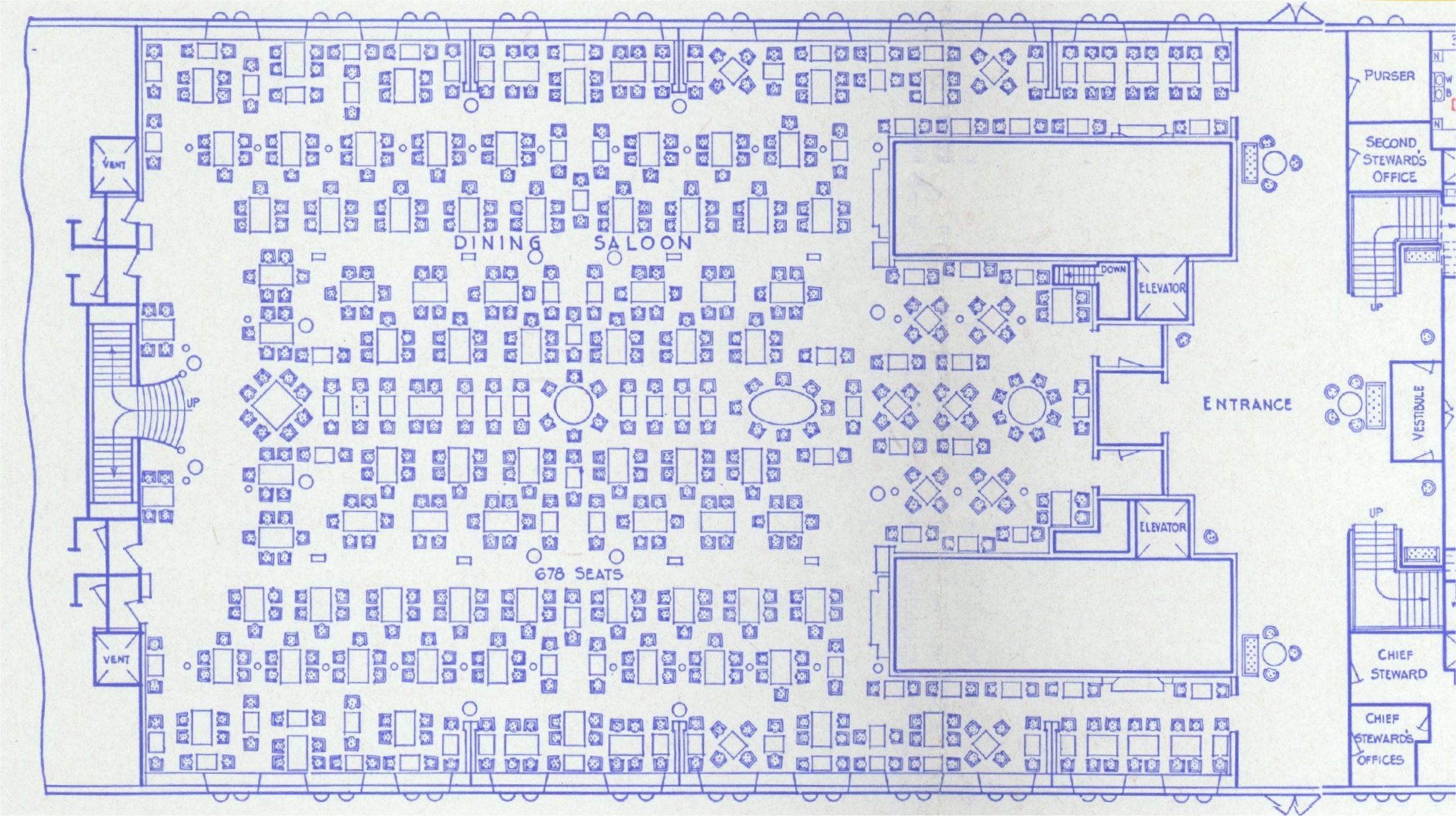 rms majestic first class dining saloon plan 1933